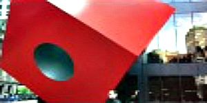 Red Cube Statue