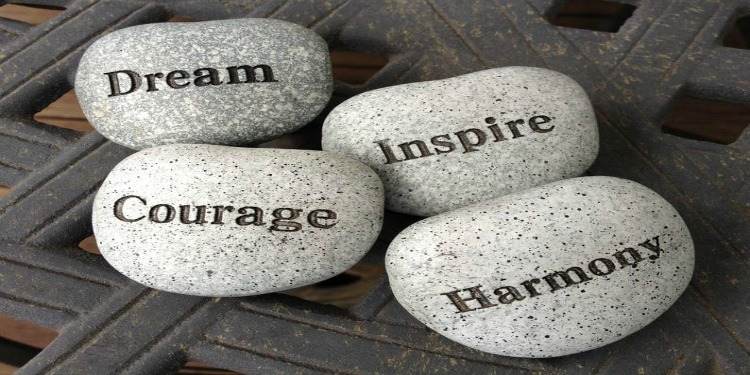 dream courage inspire harmony stones